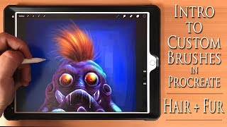 Intro to Custom Brushes in Procreate  ( Promo Video )