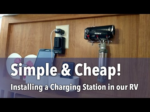 Installing a Simple & Cheap Charging Station in our RV - Family of 10, Full-time RVers