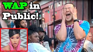 Download Qpark - WAP - Cardi B, Megan thee Stallion- Tik Tok Dance in PUBLIC (QPark)