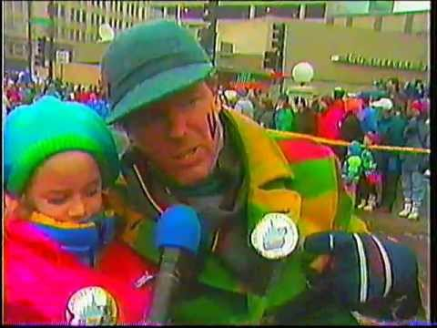 Joe Soucheray Interviewed Riding In Winter Carnival Parade 1993