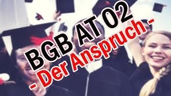 BGB AT 02 - Der Anspruch (Schema)