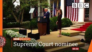 Trump nominates conservative favourite for Supreme Court @BBC News live on iPlayer - BBC