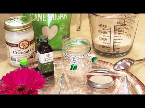 How To Make Your Own Coconut Sugar Body Scrub Youtube