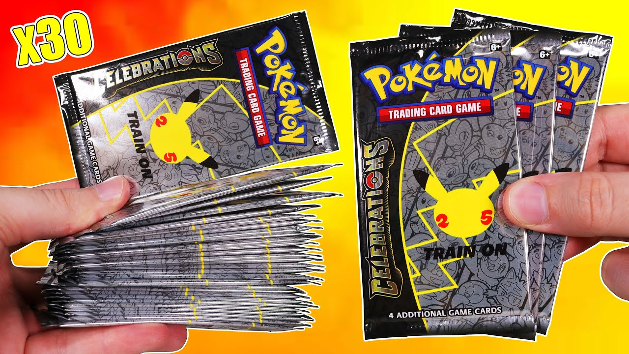 Download Opening 30 Pokemon Celebrations Booster Packs!