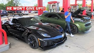 "I'LL NEVER RACE THIS GUY AGAIN... ""1,000HP"" Hellcat Owner Says I ""CHEATED"" On Roll Races"