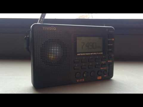 TIVDIO V-115 AM FM SW MP3 rechargeable radio demo