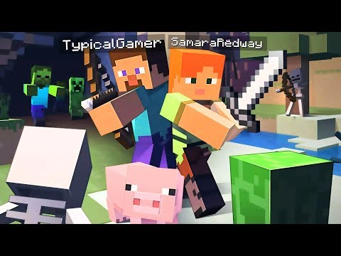 EXPLORING THE WORLD! MINECRAFT w/ MY GIRLFRIEND! (Minecraft #2)