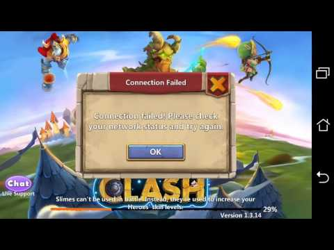 Fighting And Racing To Log Into Castle Clash (Android)