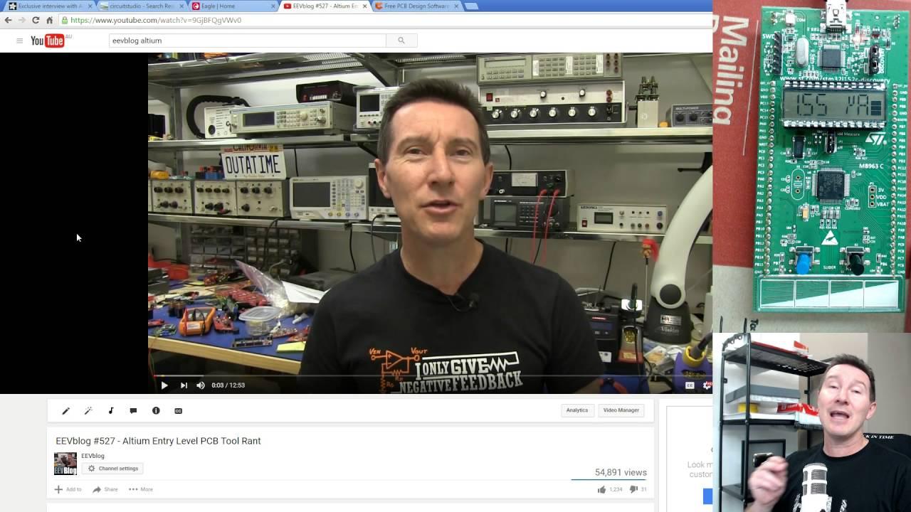eevBLAB #24 - PCB Wars! Altium Circuit Studio vs Autodesk Eagle ...