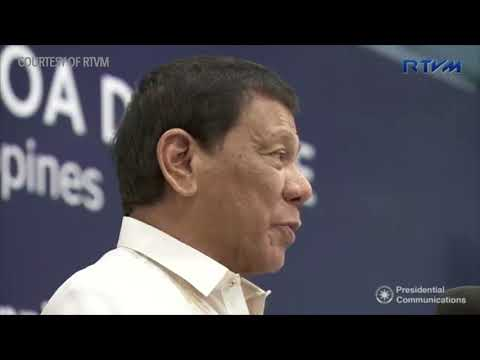 Duterte attends the inauguration of the Solar Philippines Fa