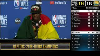Pascal Siakam Press Conference | NBA Finals Game 6
