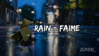 Faime - RAIN (Tradução/Legendado)