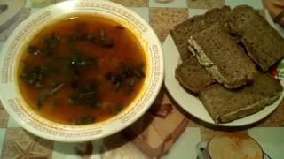 Суп томатный из чечевицы. #суфикс