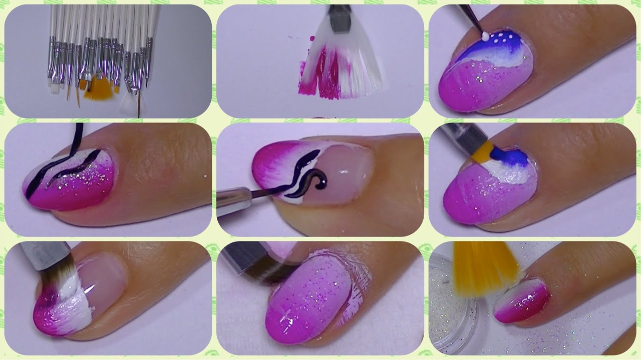The Perfect Nail Art Set Of Brushes,dresslink com - YouTube