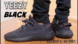 "(WORTH THE HYPE ?) YEEZY 350 V2 ""BLACK STATIC"" REVIEW & ON FEET"