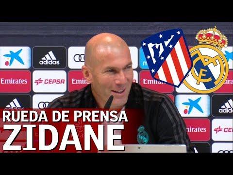Atlético de Madrid - Real Madrid: Rueda de prensa completa de Zidane   Diario AS