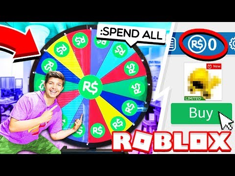 SPINNING-THE-WHEEL To SPEND ALL MY ROBUX!? (Roblox IRL)