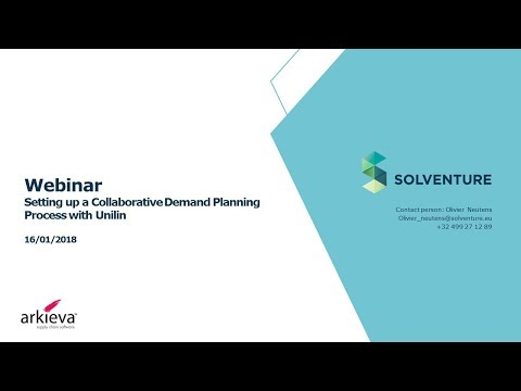 Solventure Webinar - Setting up a Collaborative Demand Planning Process with Unilin