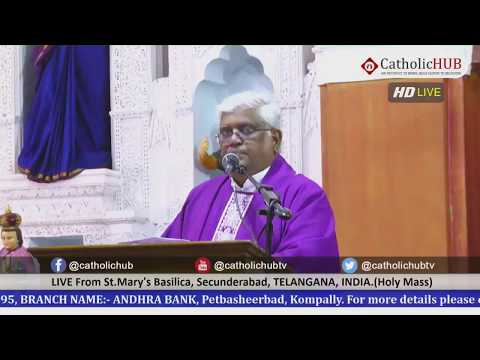Sunday Holy Mass in English & Telugu from St.Mary's basilica,Secunderabad,TS,INDIA. 29-03-2020