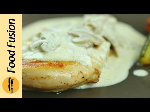 Grilled Chicken With Mushroom Sauce, Resturant Quality Recipe  By Food Fusion
