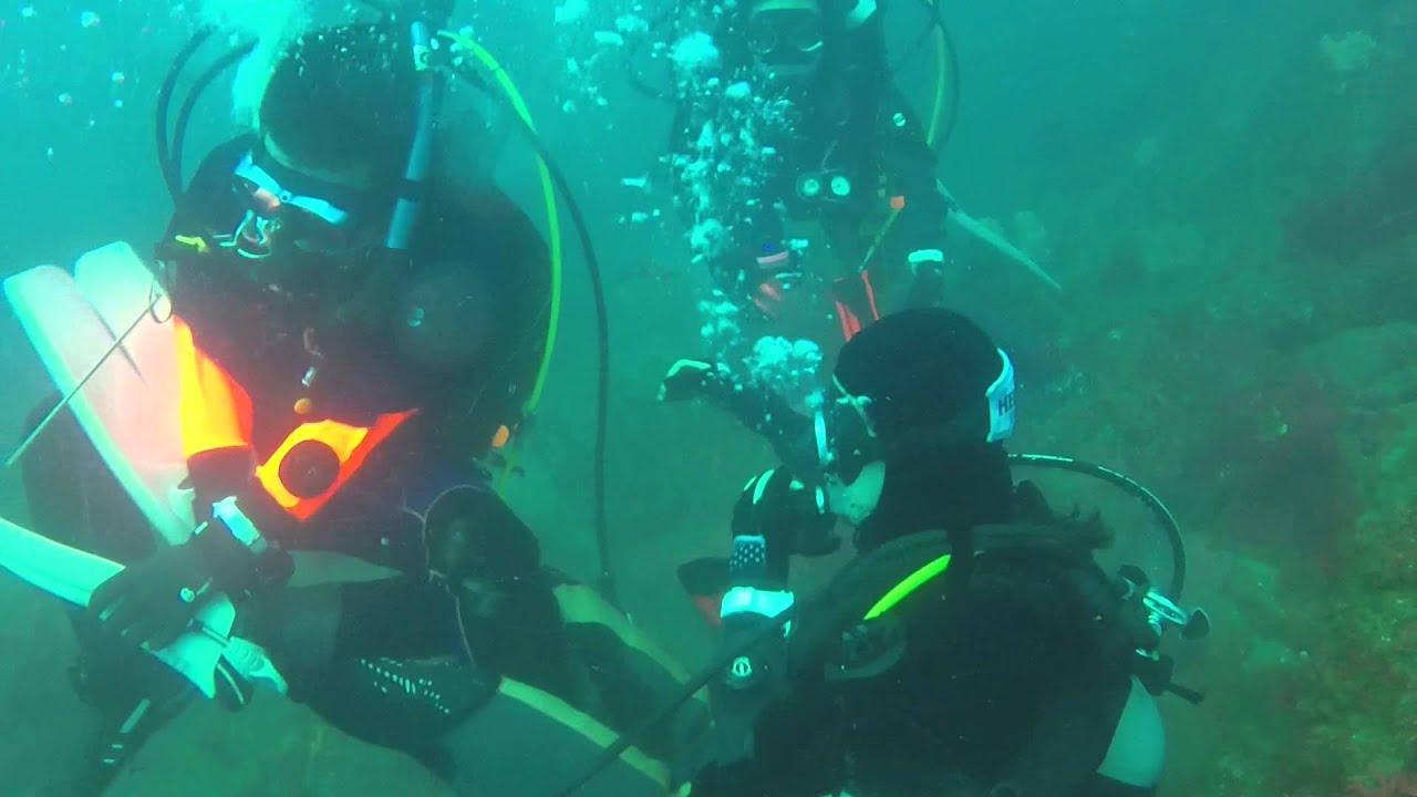Underwater wrestling