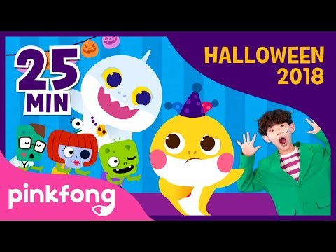 Halloween Sharks Dance and more  Halloween Songs  +Compilation  Pinkfong Songs for Children