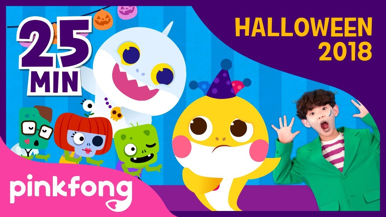 Halloween Sharks Dance and more | Halloween Songs | +Compilation | Pinkfong Songs for Children