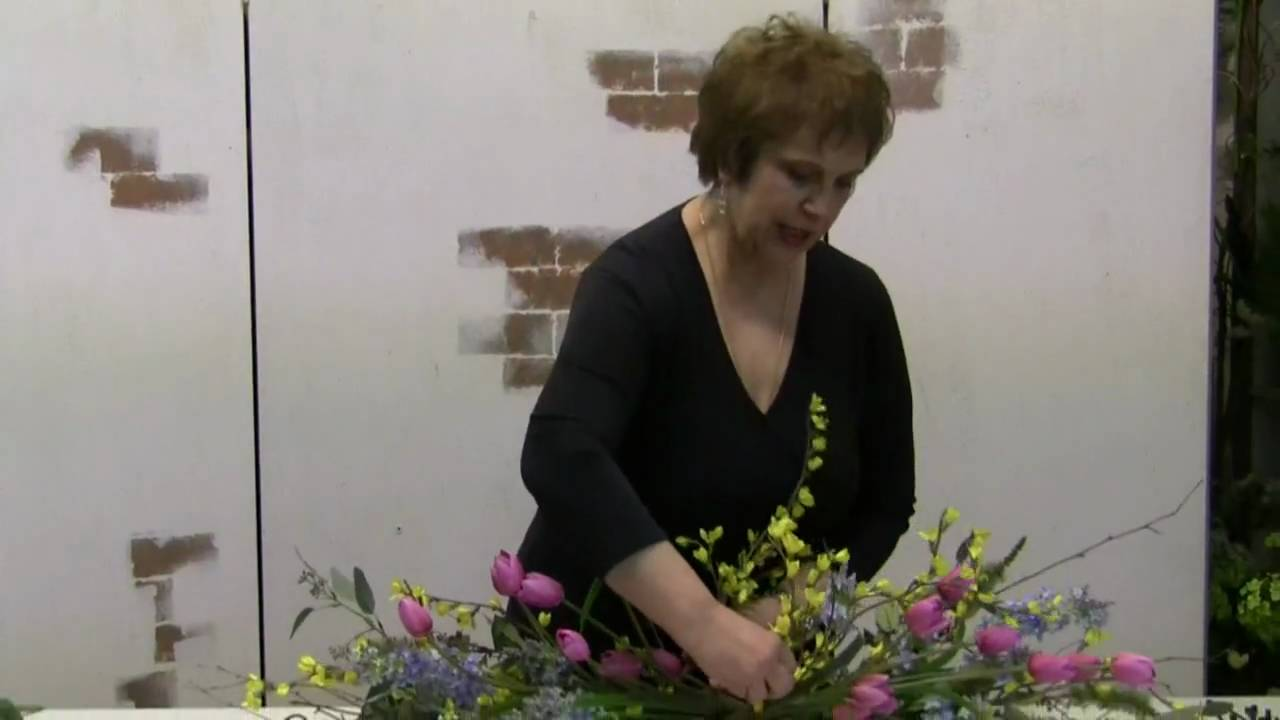 How to make a spring flower swag using silk flowers youtube mightylinksfo Choice Image