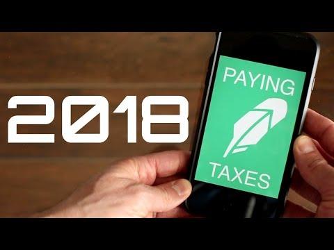 PAYING TAXES on the Robinhood App 2018