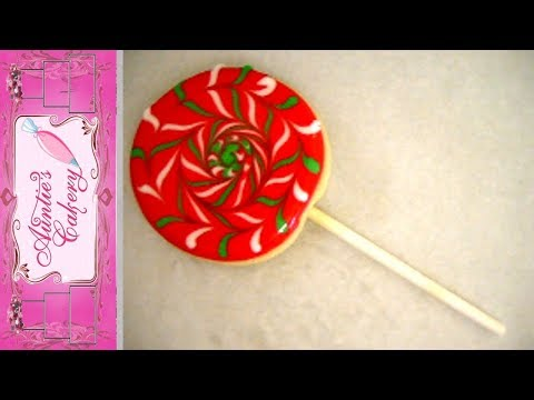 Lollipop style Cookie pop sugar cookie decorated with Royal Icing