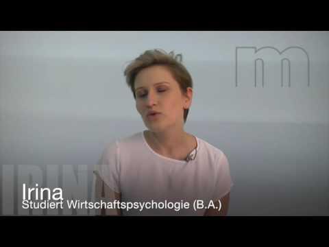 Irina ber ihr studium wirtschaftspsychologie an der for Wirtschaftspsychologie studium
