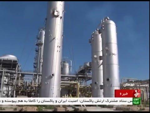 Iran Khuzestan province, Gas refinery پالايشگاه گاز استان خوزستان ايران
