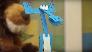Бумажки - Землетрясение (ШАТАЮЩИЙСЯ СТОЛ). Новая серия 45. Мультик про оригами для детей.