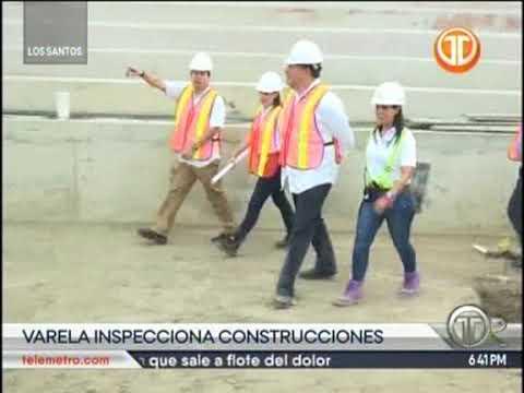 Telemetro recorrido del presidente Juan Carlos Varela en la construcción Hospital Anita Moreno y los