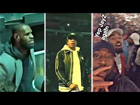 LeBron & Cavaliers Get LIT At Jay Z Concert In Cleveland