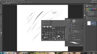How to make a basic sketch pencil brush in adobe photoshop custom brush tutorial