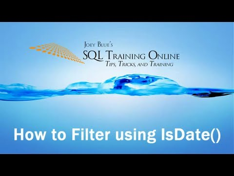SQL Isdate Function As A Filter With Cast - SQL Training Online