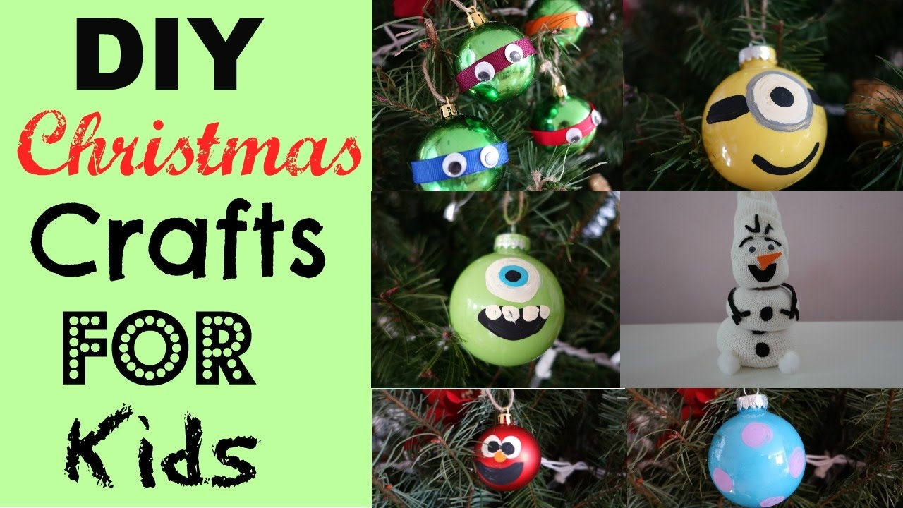 DIY CHRISTMAS CRAFTS For kids easy with ornaments~ Ninja Turtle ...