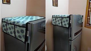DIY Fridge Top Cover | How to make Fridge Top Organizer | Old Cloth Reuse