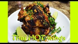 Hot Wing Recipe : Thai Hot Wings : Hot Wing Sauce : Hot Wings : Thai Food : Chicken Recipes : 한글자막