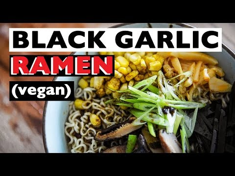 VEGAN RAMEN RECIPE | HOW TO MAKE TONKOTSU BLACK BROTH ビーガンラー