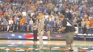 National Anthem at Gators basketball game