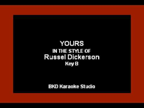 Russel Dickerson - Yours (Karaoke Version)