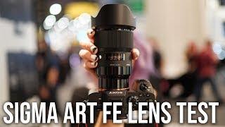 Sigma Art FE Lenses for Sony Alpha AF Test + Sample Images 14mm 35mm 50mm 85mm 135mm on Sony a7R III