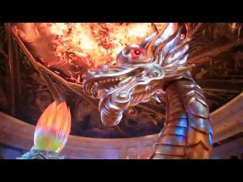 Chinese Dragon Show At Wynn Casino Macau China