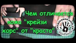 видео Различие кожи растительного и хромового дубления
