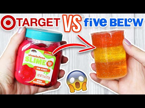 TARGET SLIME VS 5 BELOW SLIME! Which is Worth it?!?