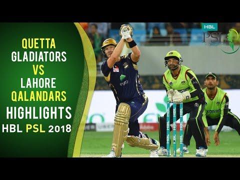 Full Highlights | Quetta Gladiators Vs Lahore Qalandars | Match 5 | HBL PSL 2018 | 25 Feb | PSL
