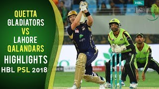 vuclip Full Highlights | Quetta Gladiators Vs Lahore Qalandars | Match 5 | HBL PSL 2018 | 25 Feb | PSL