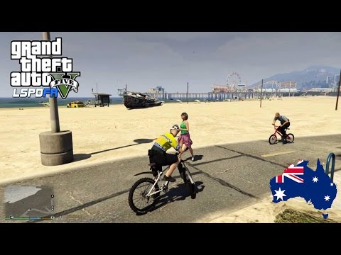 GTA 5 - LSPDFR Australia - Beach Brawls and Killer Vegans! AFP Bicycle Patrol